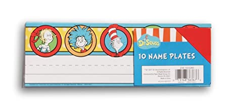 Amazoncom Dr Seuss Classroom Name Plates 10 Count Office