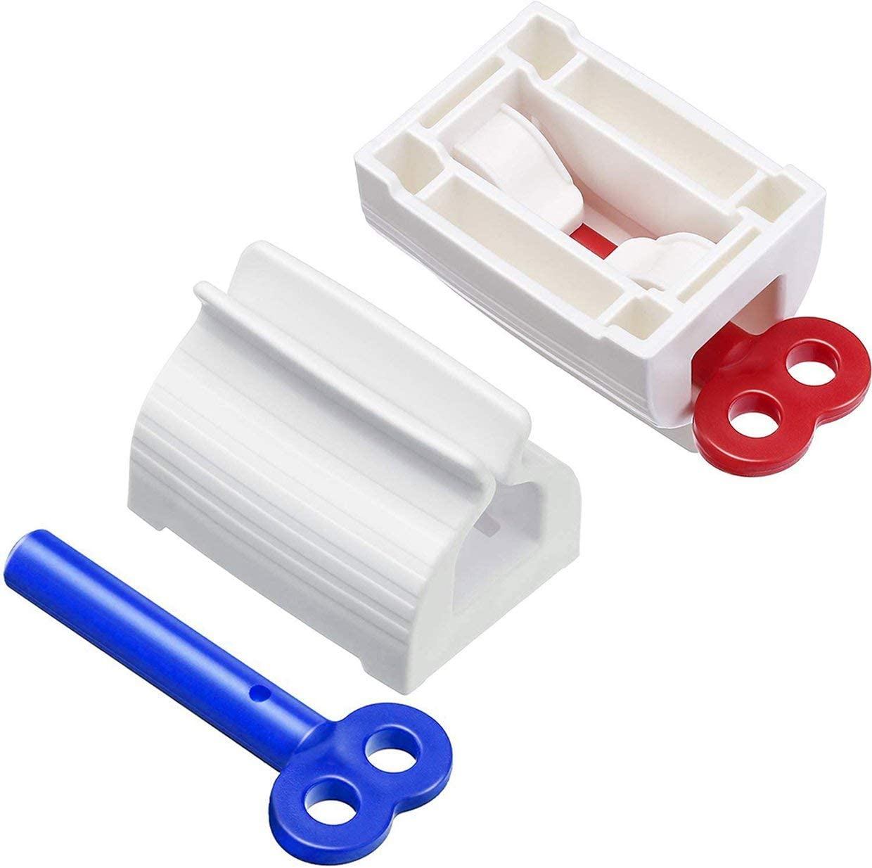MXECO 6pcs Rolling Tube Zahnpasta Squeezer Zahnpasta Sitzhalter St/änder Zahnpastaspender f/ür Badezimmer drehen zuf/ällige Farbe