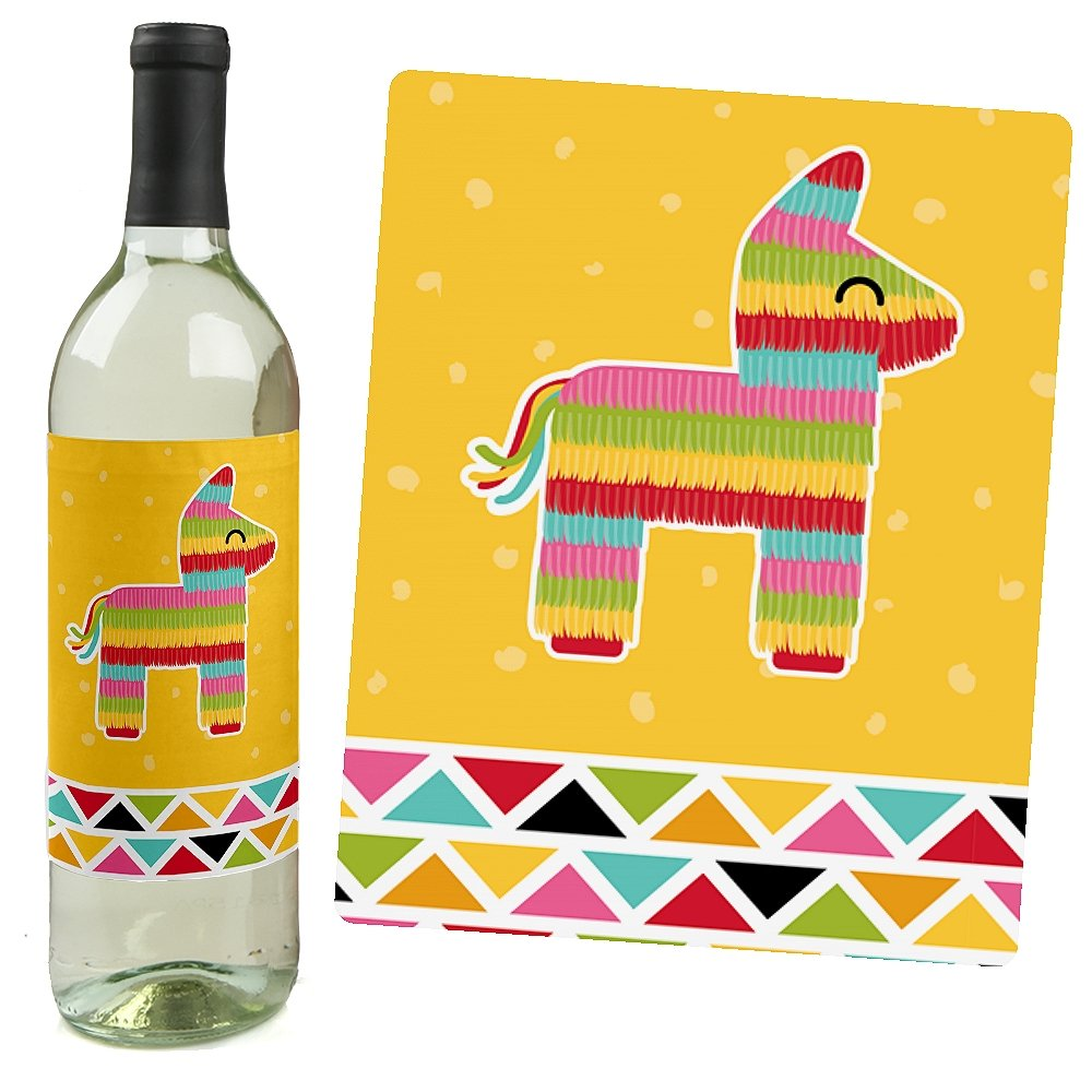 Amazon.com: Let\'s Fiesta - Mexican Fiesta - Wine Bottle Labels - Set ...