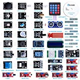 amazon arduino - ELEGOO Upgraded 37 in 1 Sensor Modules Kit with Tutorial for Arduino UNO R3 MEGA 2560 Nano 2016 New Version