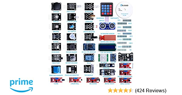 ELEGOO 37 In 1 Sensor Module Kit For Arduino