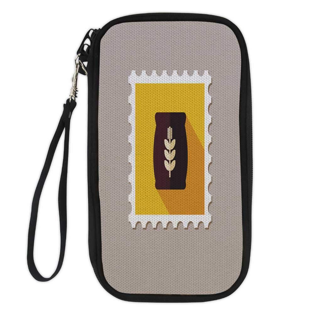 passport wallettravel wallet passport holdersale bag icon on smartphone screen design template Vector illustration2 9.1x4.7x0.8
