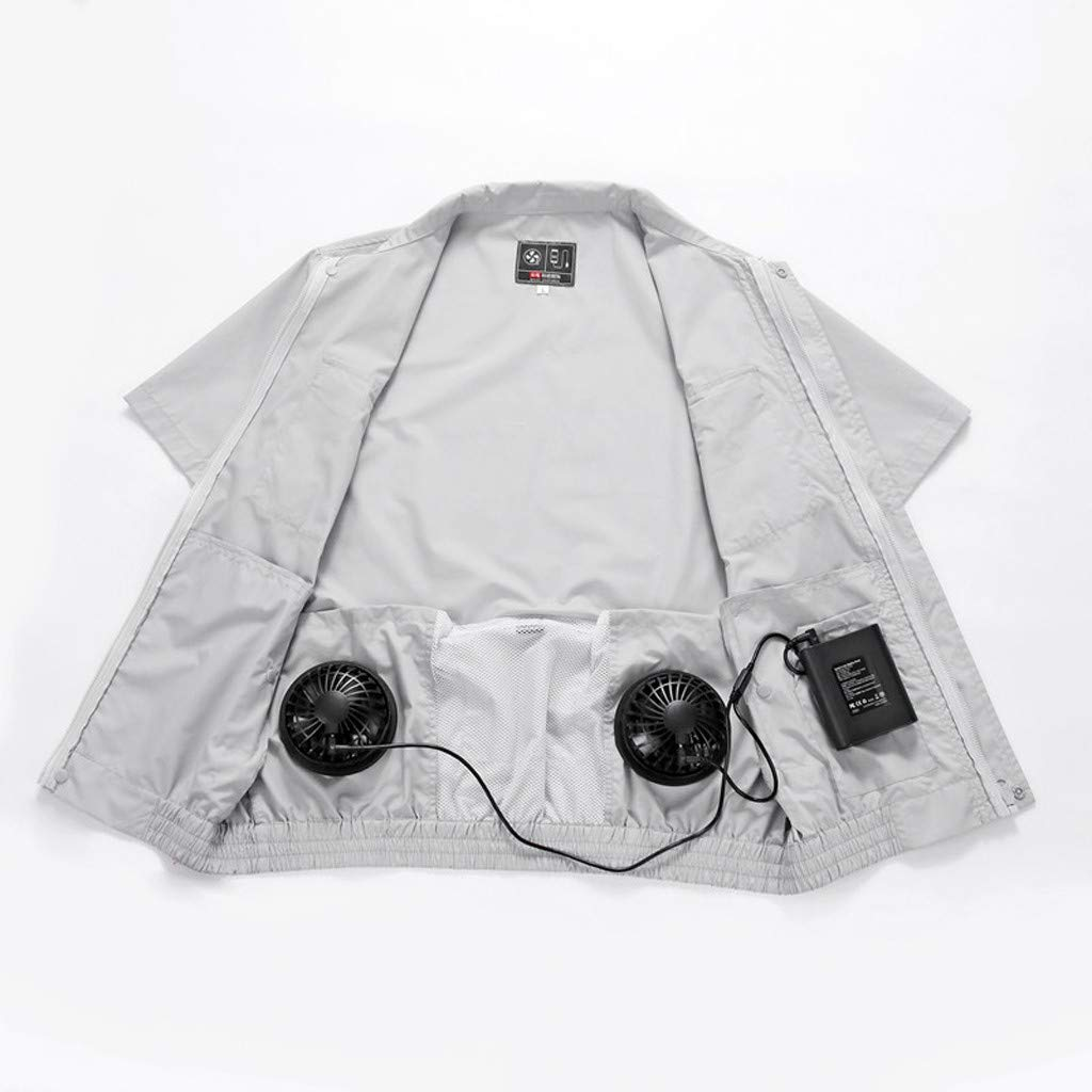 Qisc Summer Workwear Cooling Vest Heatstroke Fan for Outdoors Air-Conditioned Working Clothes