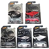 Hot Wheels, 2015 Exclusive James Bond 007 Collection, Bundle Set of 5 Die-Cast Cars, 1:64 Scale