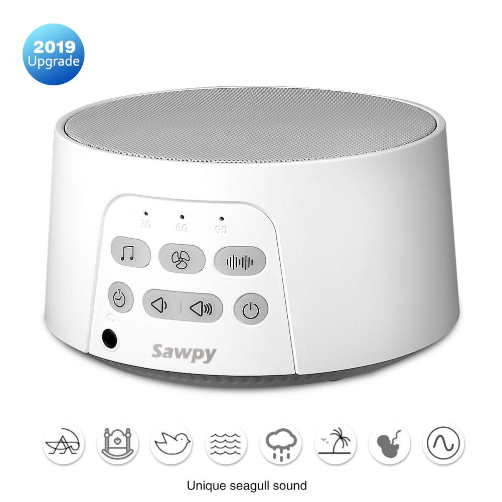White Noise Machine Portable - Sawpy Sound Machine for Sleeping, 24 Soothing HiFi Sound for Sleep and Relaxation, timed Off, Sleep Therapy Sound Machine for Kids and Adults by Sawpy