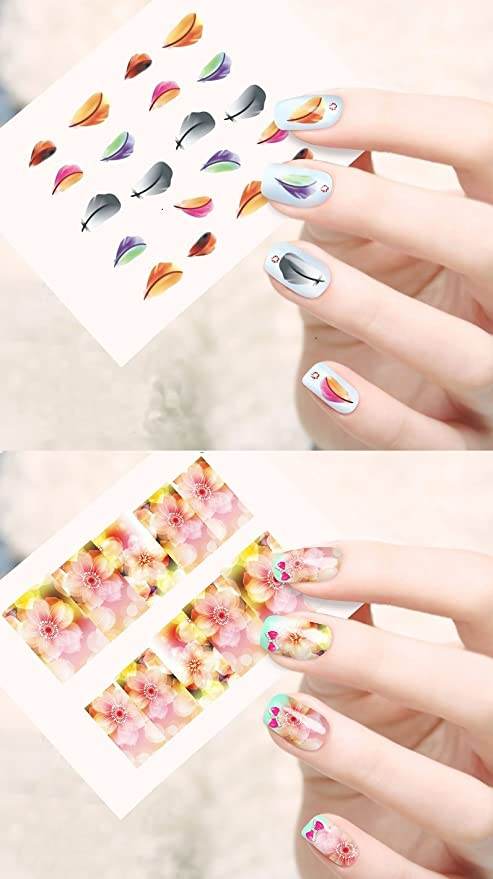 Buy Jenna Nr 015 Water Transfer Nail Art Decals Stickers White