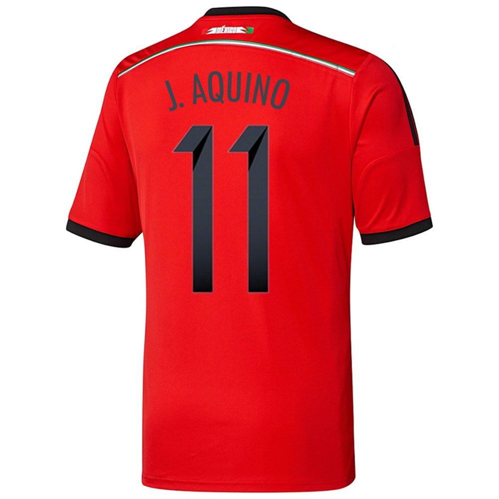 Adidas J. AQUINO #11 Mexico Away Jersey World Cup 2014/サッカーユニフォーム メキシコ アウェイ用 ワールドカップ2014 背番号11 J.アキーノ B00KVMCRZI Large