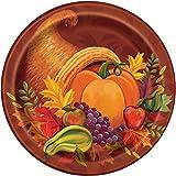 Fall Harvest Thanksgiving Dessert Plates, 8ct