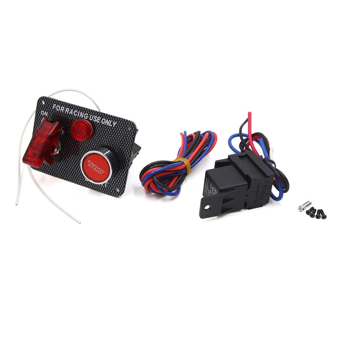 uxcell DC 12V Red LED Ignition Switch Panel Engine Start Push Button for Racing Car