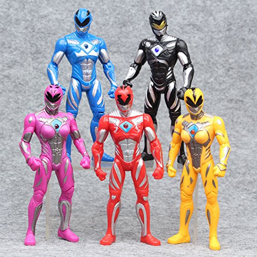 Power Rangers The Movie 2017 New 17cm Action Figures 5pc/Set Kids Gift - Power Rangers Putties Costume