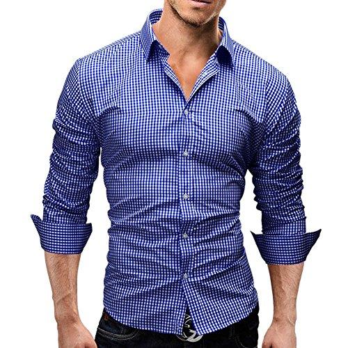 Wrinkle Free Shirts Men Slim Fit Casual  - Long Sleeve Fashion Dress Shirt Shopping Results