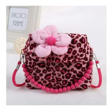 Dwayne C Cute Little Girls Fashion Flower Handbag Crossbody Bag Kids  Princess Sweet Flower Bead Zipper 805439d2d
