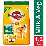Pedigree Puppy Dry Dog Food, Milk & Vegetables – 1.2 kg Pack