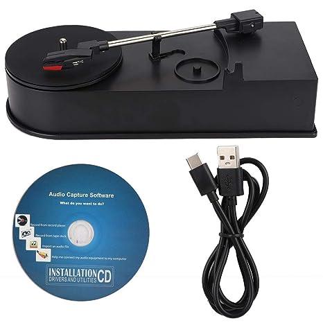 Lazmin Reproductor de Discos portátil, giradiscos de Vinilo a MP3 ...