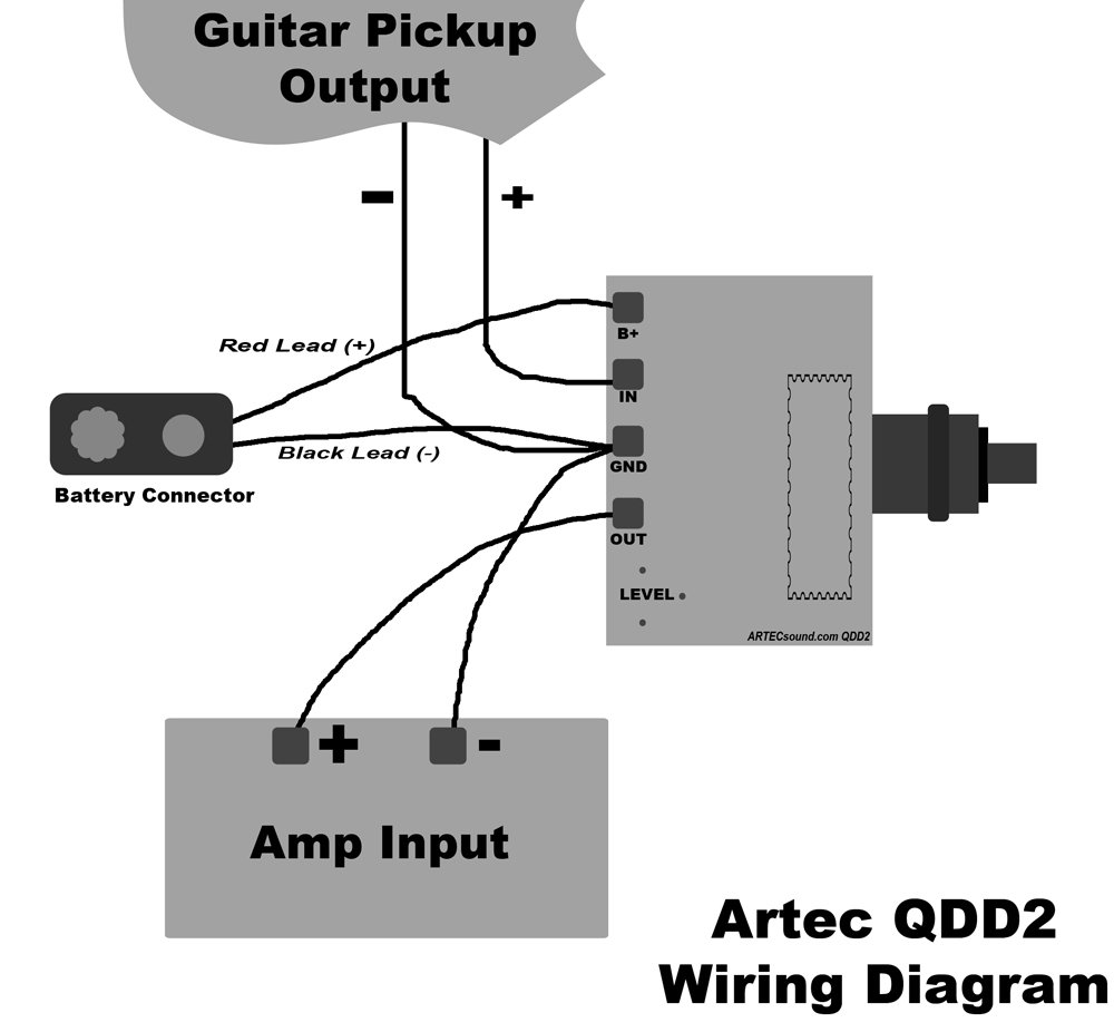61A AiZcbfL._SL1000_ amazon com artec qdd2 quadra distortion driver effects board artec humbucker wiring diagram at panicattacktreatment.co