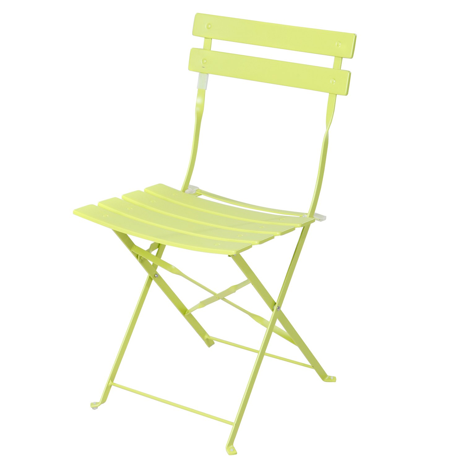Grand patio 3-Pack Sling Glider Folding Steel 2 Chairs Round Table Indoor Corner Sets,Vivid Green by Grand patio (Image #4)