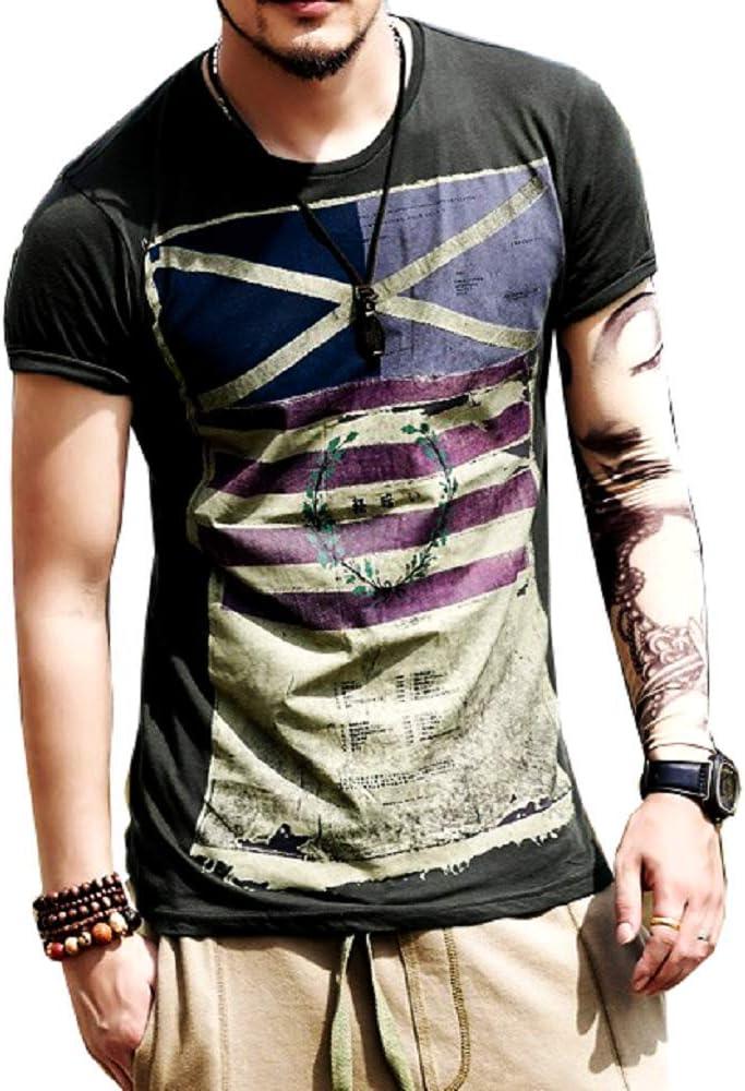 Camiseta de Hombre - Bandera - niño - Camisa - Camisa - Manga Corta - Idea de Regalo - Moda - Color Negro - Talla XXL: Amazon.es: Ropa y accesorios