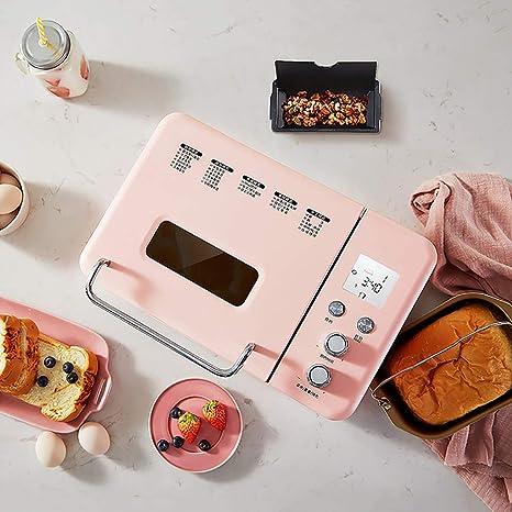 LJ-MBJ Casa Maquina de Pan, Completamente automático Maquina para Hacer Pan, Dispensador de Frutas y Tuercas, Ajuste Libre de Gluten, ...