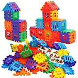 MICHLEY 100 Pcs Interlocking Builders Blocks Play Set for Child