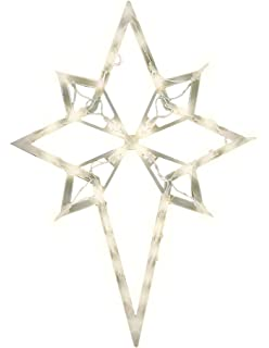 Star Of Bethlehem Outdoor Light Amazon new christmas lighted star indoor or outdoor home and impact innovations christmas lighted window decoration star of bethlehem workwithnaturefo