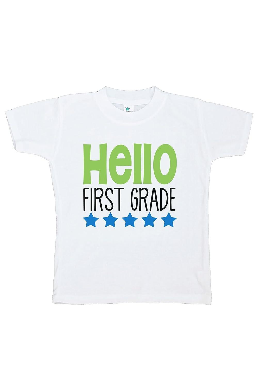 Custom Party Shop Kids Hello First Grade School T-Shirt