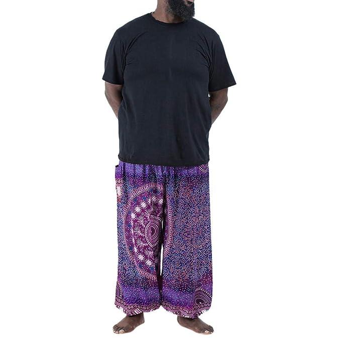 Pantalones de yoga hippie Hombre Tallas Grandes Verano Push Up ...
