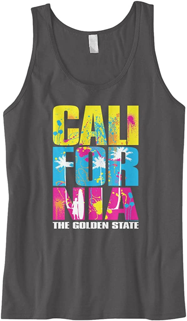Cybertela Mens Cali California Republic Bear Sleeveless T-Shirt