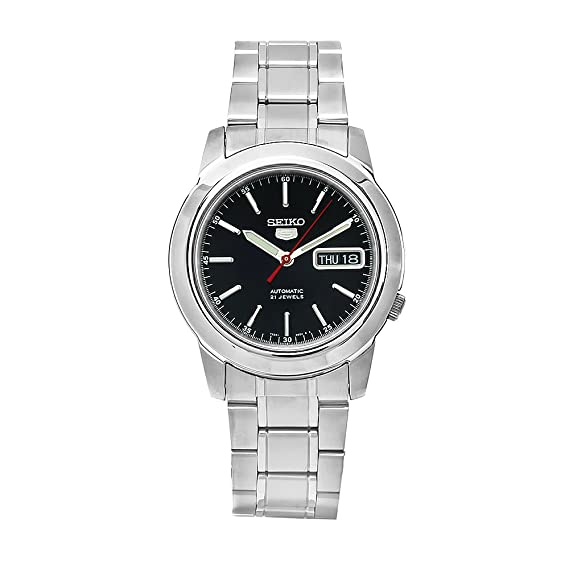 Seiko Watches SNKE53K1S - Reloj de Pulsera Hombre, Acero Inoxidable, Color Plata
