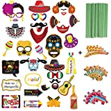 paper horse mask - Mexican Fiesta Photo Booth Props And Party Paper Straw,Funny Cinco De Mayo For Mexican Birthday Wedding Bachelorette Fiesta Themed Party Favors Supplies Decorations