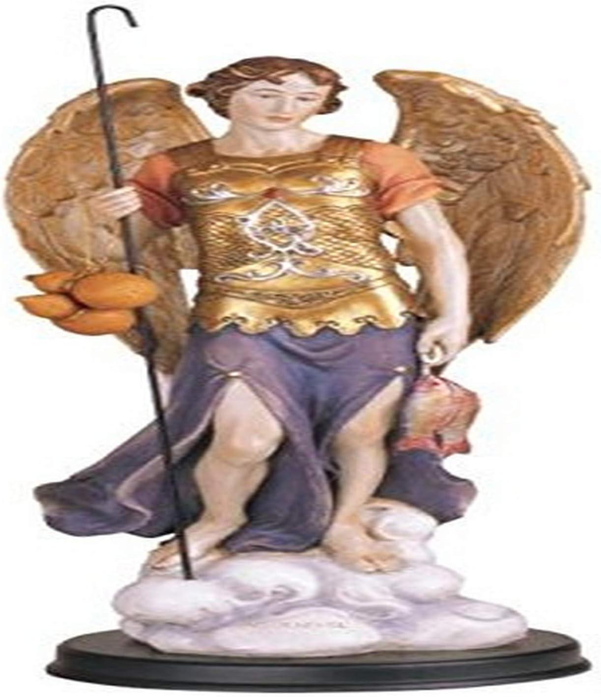 Archangel Raphael Resin Statue Religious Figurine Sculpture Ornament