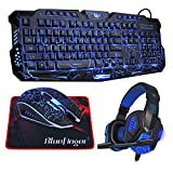 61A DKu546L. SL160  - Bluefinger Gaming Keyboard, Mouse and Headphone Set