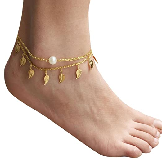 Anklets 2pcs Simple Women Beach Ankle Bracelet Anklet Foot Chain Sandal Jewelry Gift Hot Jewelry & Accessories