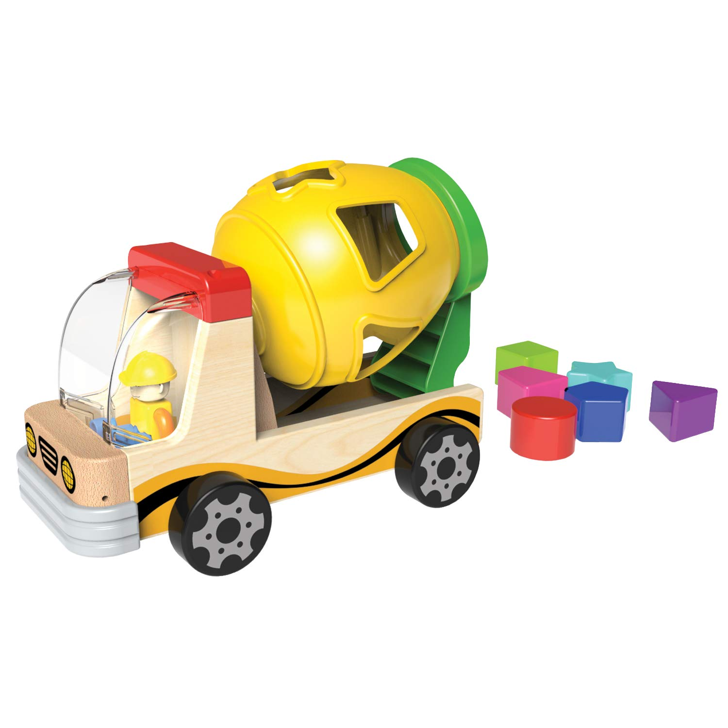 Little Moppet Mixer Truck with Shape Sorter   B07HGCWQN1
