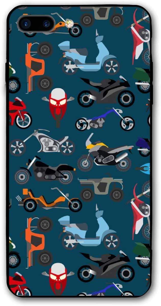 Motorcycle Trike iPhone 7/8 Plus Case Soft Flexible TPU Anti Scratch Shock-Proof Protective Shell Compatible Phone Case Cover