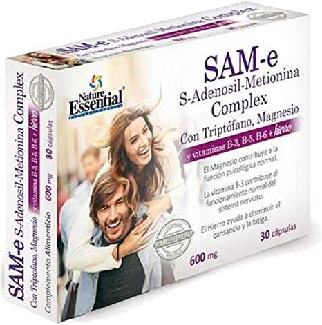 SAM-E S-ADENOSIL-METIONINA COMPLEX 600 MG 30 CAPS. 1 und.: Amazon ...