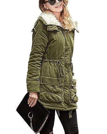 Colores Sólidos Chaqueta Mujer Chaquetas Moda Acolchada Vintage tT1wfzq