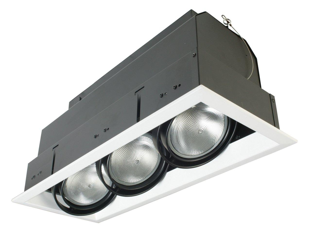 Eurofase TE133-02 3-Light PAR30 Recessed Mutiple Strip Trim, White