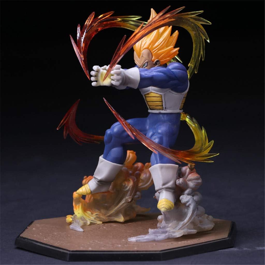 JNTM Anime Static Figure Dragon Ball Z Vegeta Super Saiyan Comic Primary Colors Model Statue Colorful Realistic Comic PVC Decoration
