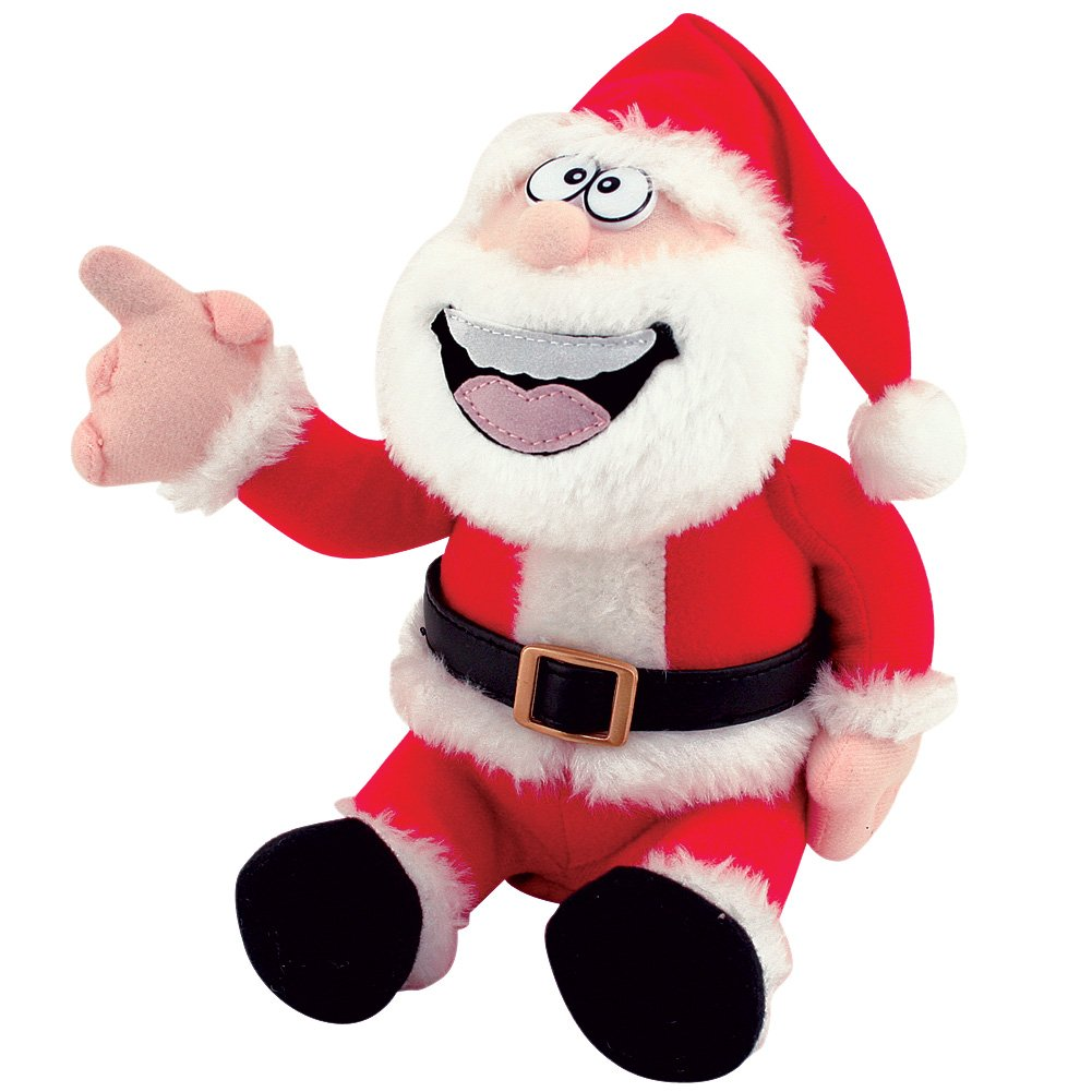 TekkyToys Pull My Finger Animated Farting Christmas Santa Claus Novelty Plush Doll Toy