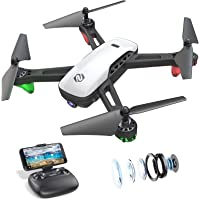 SANROCK U52 Drones for Kids and Adults with 720P HD Camera, WiFi Live Video FPV Drone Toy, RC Quadcopter for Beginners…