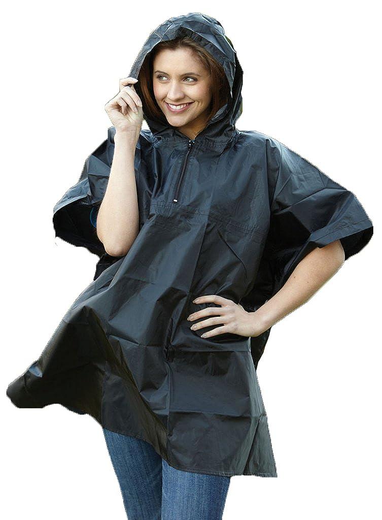 Yoko Hi-Vis Promo la parte superior es de diseñ o de gotas de lluvia Poncho impermeable con capucha con cremallera-up lluvia para mujer chaqueta de hí pica para niñ os HVS470
