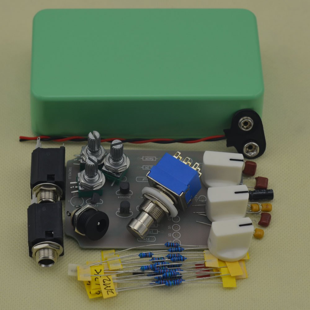 TTONE DIY Analog Tremolo Guitar Effects Pedal Stompbox Pedals Kit Green With 1590B Case by TTONE