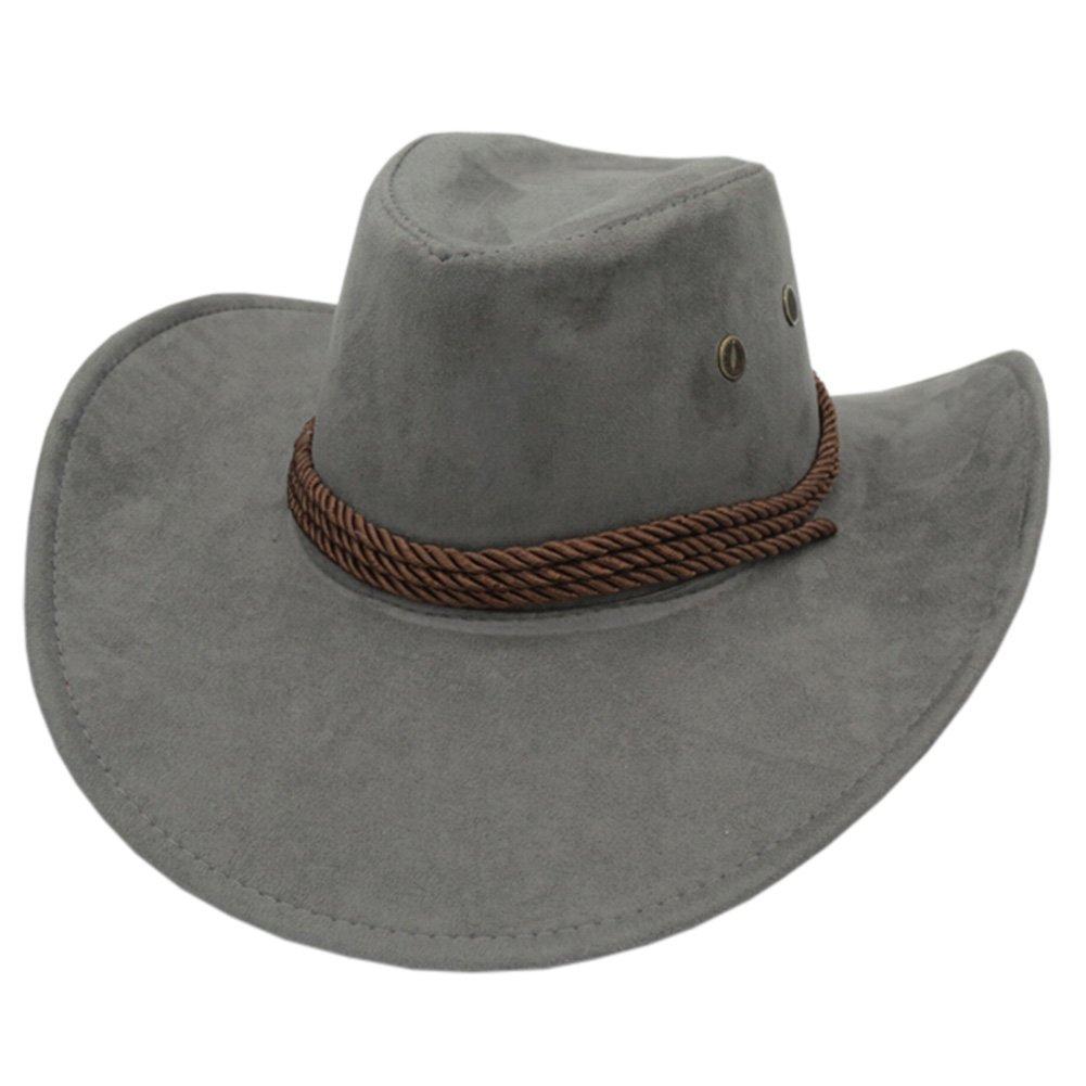 7b4e01bc2b3f0 Amazon.com   Kylin Express Fashion Ten-Gallon Hat Outdoors Sports Cap  Fishing Hunting Hat Cowboy Hat Grey   Sports   Outdoors