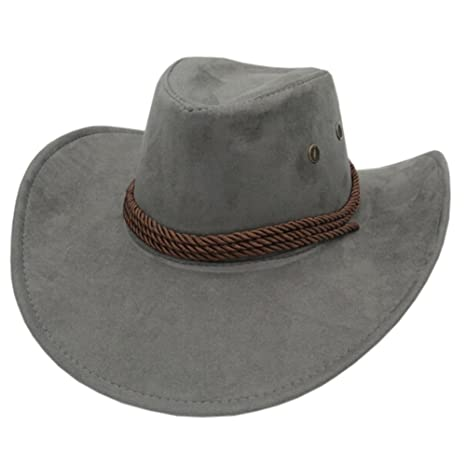 51121d16c72 Image Unavailable. Image not available for. Color  Fashion Ten-gallon Hat  Outdoors Sports Cap Fishing Hunting Hat Cowboy Hat Grey