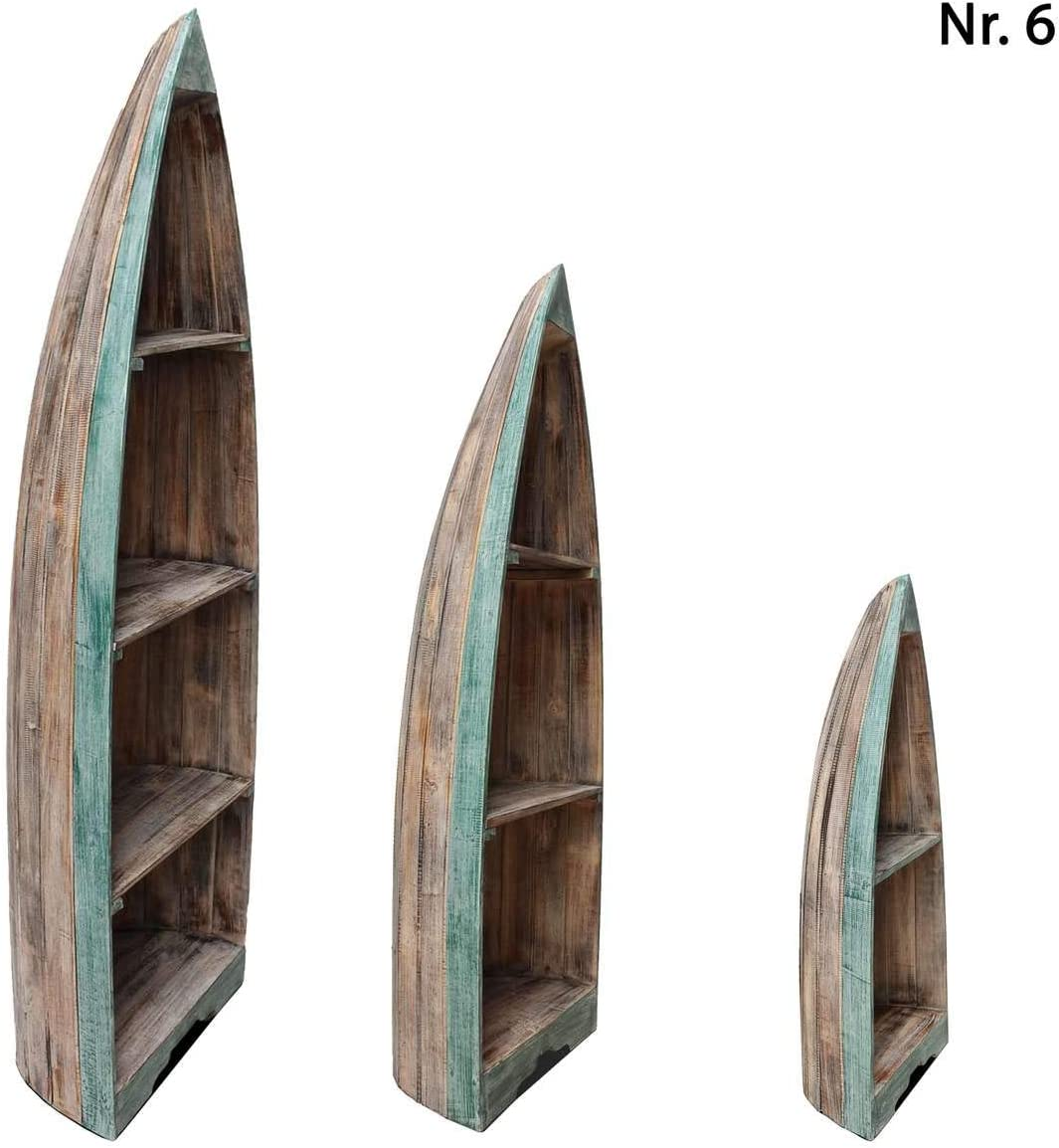 10 Gr/ö/ße:Gro/ß Design:Nr Oriental Galerie Bootsregal Regal im Boots-Design Holzregal Standregal Aufbewahrung Konsole Bord Albesia Holz