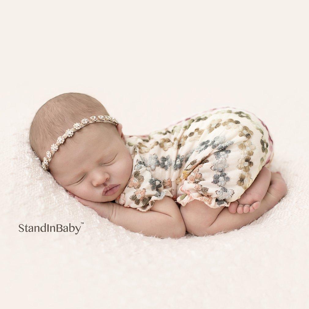Desktop Beanbag. Newborn Photography Travel Size Posing beanbag Poser | Professional Ottoman | Baby Photo Prop & Pose Pillow | Newborn Photography Props