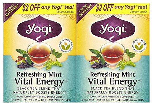 Yogi Tea Refreshing Revitalize Mint Tea 2 Piece Pack, 1.27 oz, 16 Count