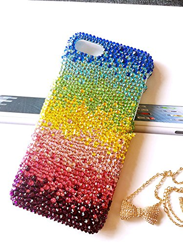 size 40 4d4a7 6c37a Amazon.com: sparkle iPhone X case rainbow bling stones women iphone ...