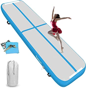 KIKILIVE Air Track AirTrack Gymnastique 10cm//20cm /Épaissir 3m//4m//5m//6m//7m//8m Tapis de Gym Gonflable Piste Gonflable Gymnastique Tumbling Gymnastique Pompe /à air