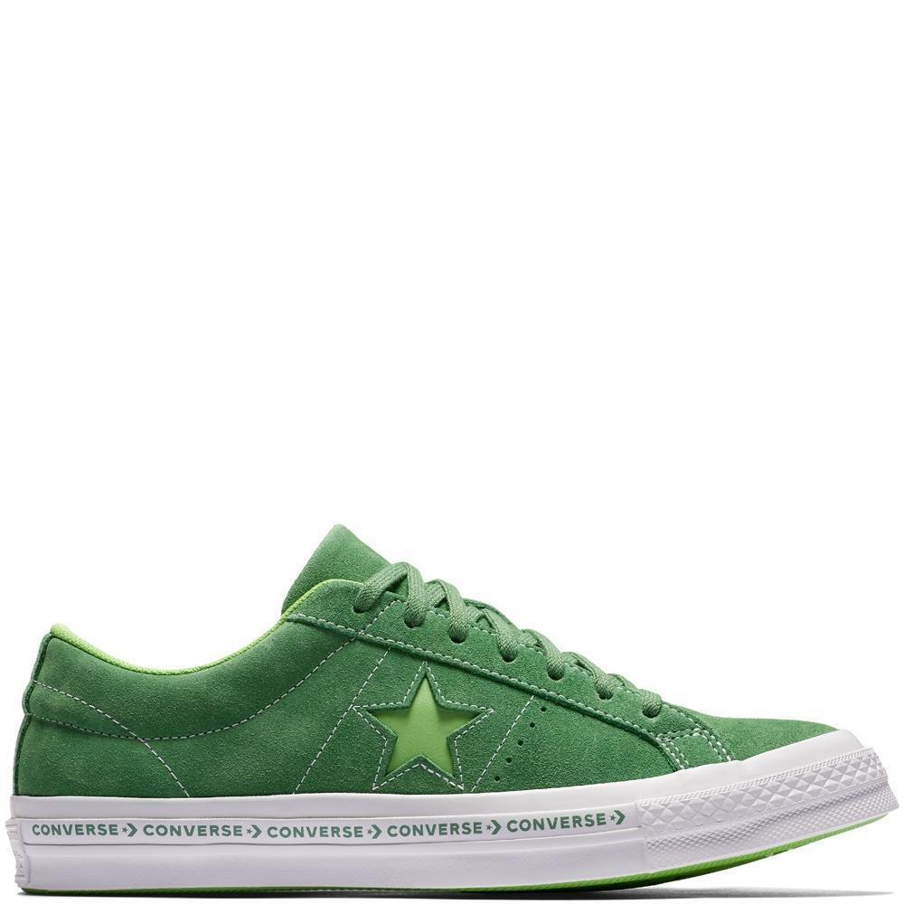 Converse Unisex-Erwachsene Lifestyle One Star OX Suede Fitnessschuhe, Schwarz  41/42 EU|Gr眉n (Mint Green/Jade Lime/White 350)